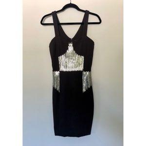 ASOS Hunt No More Embellished Black Dress XS
